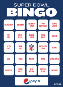 super bowl bingo